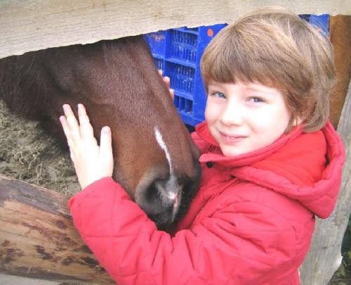 2005Micol con un cavallo