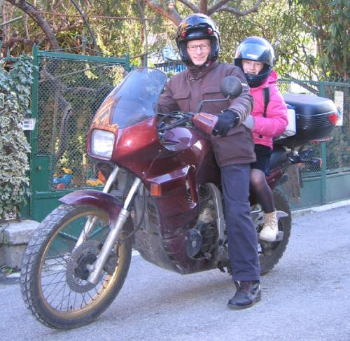 2009 01 Gen Marzo in moto con Micol